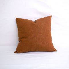 Throw Pillow Made With Sunbrella Linen Chili 8306-0000