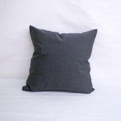 Throw Pillow Made With Sunbrella Canvas Coal 5489-0000