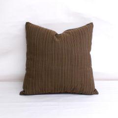 Throw Pillow Made With Sunbrella Dupione Oak 8057-0000