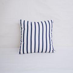 Throw Pillow Made With Sunbrella Lido Indigo 57004-0000