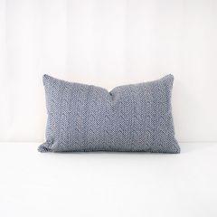 Throw Pillow Made With Sunbrella Posh Sapphire 44157-0053