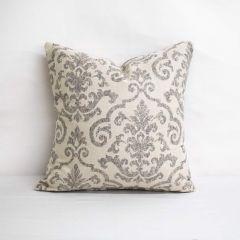 Throw Pillow Made With Sunbrella Rialto Ash 145114-0000 - Reversible (Light Side)