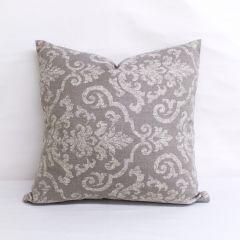 Throw Pillow Made With Sunbrella Rialto Ash 145114-0000 - Reversible (Dark Side)