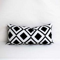 Throw Pillow Made With Sunbrella Savvy Onyx 45889-0009