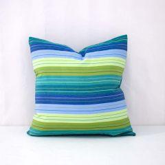 Throw Pillow Made With Sunbrella Seville Seaside 5608-0000