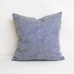 Throw Pillow Made With Sunbrella Shibori Indigo 145360-0001