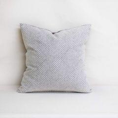 Throw Pillow Made With Sunbrella Shibori Silver 145360-0013