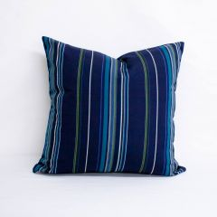 Throw Pillow Made With Sunbrella Stanton Lagoon 58001-0000