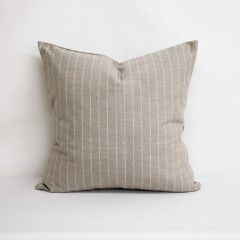 Throw Pillow Made With Sunbrella Ticking Dove 40554-0004