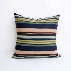 Throw Pillow Made With Sunbrella Tradition Aspen 5653-0000