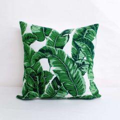 Throw Pillow Made With Sunbrella Tropics Jungle 145214-0000